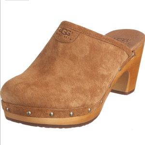 UGG Sheepskin ABBIE CHESTNUT CLOGS CASUAL 8